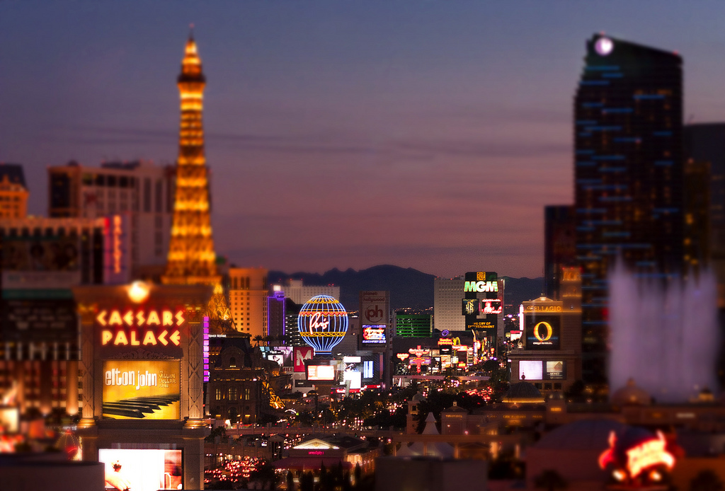 Las Vegas is the entertainment capital of America ... photo by CC user josephdepalma on Flickr